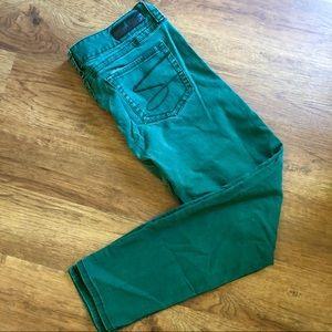 Seven7 Skinny winter green jeans 14